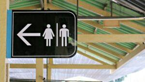 znak damskiej i męskiej toalety publicznej