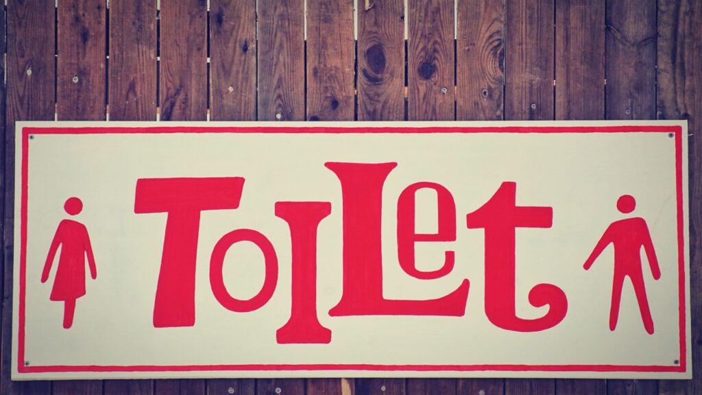 tabliczka toalety damskiej i męskiej